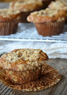 Banana Streusel Muffins | www.mountainmamacooks.com