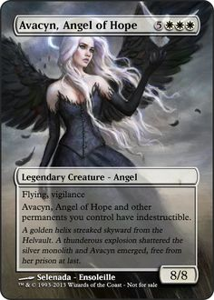 Magic the Gathering - Avacyn, Angel of Hope by ASliceOfUnagi