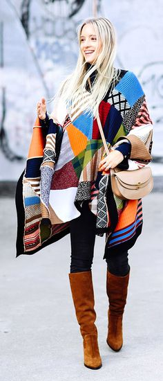 the fashion guitar | chloe poncho | chloe bag | street style | winter outfits |