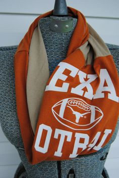 Texas Longhorns Football Upcycled TShirt by SeasonedWithStyle, $14.00