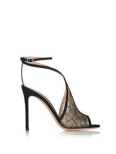 #AdoreWe #StyleWe Sandals - Designer LEISIDINA Black Peep Toe Stiletto Heel Lace Sandals - AdoreWe.com
