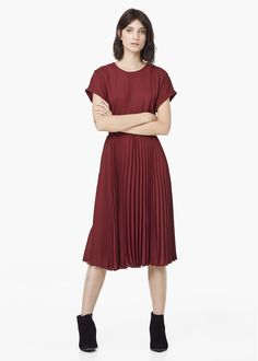 Pleated dress - Dresses for Women | MANGO