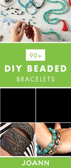 423bdbd593e23 Create your dream assortment of funky jewelry with the help of these DIY  Beaded Bracelets from JOANN. Using just a few supplies you can create any  of these ...