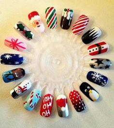 ongles de noël nail art