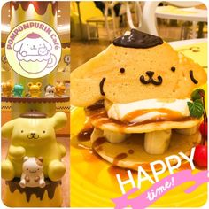 We visited the new Pompompurin Cafe in Harajuku! o(^▽^)o The cutest pancake ever! ❤❤ 