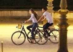 Actors Jamie Dornan and actress Dakota Johnson seen on the set of 50 Shades Of Grey in Paris, France.