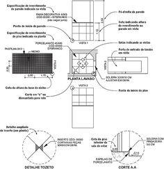 Projetos | Piso cerâmico Aprenda as marcações comuns em plantas de revestimento