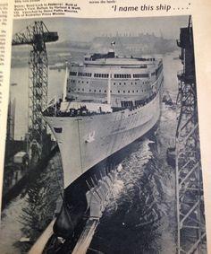 I name this ship . Falklands War, Cruise Ships, Shipwreck, Belfast, Seas, Planes, Sailing, Queens, Beautiful Places