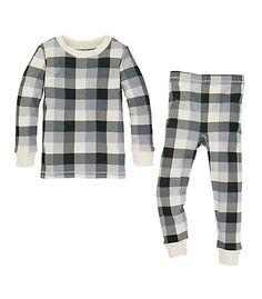 Kids Buffalo Plaid Organic Cotton Pajamas - Burts Bees Baby. baby, kids, toddler