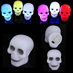 Wholesale price + Free shipping Colorful Flash LED Skull Night Light Lamp Party Decoration Gift . GET IT NOW! https://www.gekaz.com/product/colorful-flash-led-skull-night-light-lamp-party-decoration-gift-2/