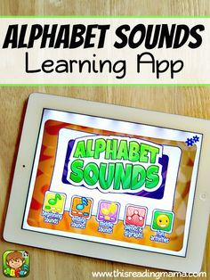 Alphabet Sounds Learning App ~ with FOUR LEVELS of interactive play 1-beginning sounds, 2- ending sounds, 3- middle sounds {short vowels}, and 4- blends/digraphs | This Reading Mama