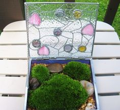 stained glass box terrarium