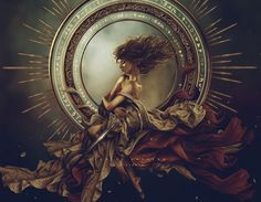 Arianrhod was the Celtic Goddess of fertility, rebirth and the weaving of cosmic time and fate. Her name has been translated as silver-wheel, a symbol that represents the ever-turning wheel of the year. The wheel may also refers to the oar wheel upon which she carried the dead back to her heavenly northern land the Corona Borealis. www.coryellekramer.com