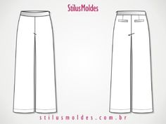 moldes de calça pantalona clássica