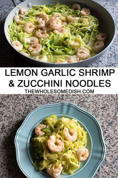 Garlic Shrimp and Zucchini Noodles (Zoodles) is an easy, quick cooking, healthy recipe perfect for a light dinner or even lunch. #shrimp #zucchininoodles #zoodles #zucchini #lowcarb #recipe #healthy #garlic #easyrecipes #quickrecipes via @afinks