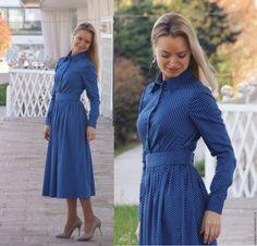 Купить Платье Джузефина - платье миди, осеннее платье - платье с длинным рукавом, платье на осень