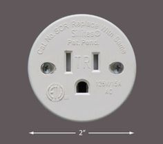Sillites - Self Contained Receptacle - Tamper Resistant - Includes Cover Cap and Mounting Screws - Black or White