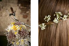 #wedding #flowers #hair