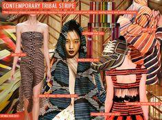 SS 2016 Women's Exotic Prints, Contemporary Tribal Stripe