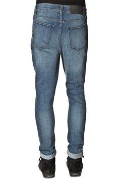 Dropped Indigo Bleed Jeans