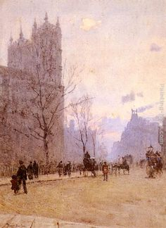 Westminster Abbey   by Rose Mary Barton R.W.S. (21 April 1856–1929)