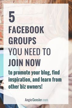 5 facebook groups you need to join now to promote your blog or business, find inspiration, and learn from other business owners and bloggers. Facebook groups are a great way to drive traffic to your website and connect with other entrepreneurs.
