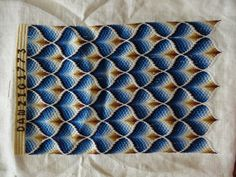 Blue Bargello