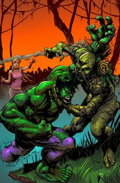 #Hulk #Fan #Art. (Swamp Thing VS Hulk) By: SiriusSteve. (THE * 3 * STÅR * ÅWARD OF: AW YEAH, IT'S MAJOR ÅWESOMENESS!!!™)[THANK Ü 4 PINNING!!!<·><]<©>ÅÅÅ+(OB4E)