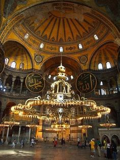 Byzantine Architecture, Mosque Architecture, Art And Architecture, Turkey Culture, Hagia Sophia Istanbul, Istanbul Pictures, Baroque Painting, Beautiful Mosques, Byzantine Art