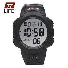 TTLIFE Luxury Brand Mens SportsWatches Dive 50m Digital LED Military Watch Men Fashion Casual Electronics Wristwatches Hot Clock