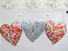 decorative fabric hanging heart garland by FingerPrickingGood