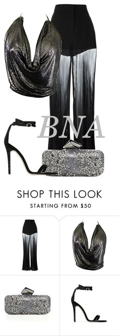 """BNA"" by deborahsauveur ❤ liked on Polyvore featuring Versace, Stephen Burrows, Jimmy Choo and Baldwin"