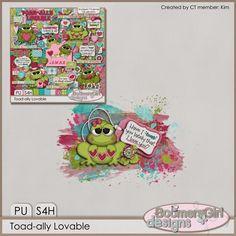 "BoomersGirl Designs: ""Toad-ally Lovable"" Digital Kit"