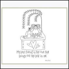 My Best Friend - Embroidery   YouCanMakeThis.com