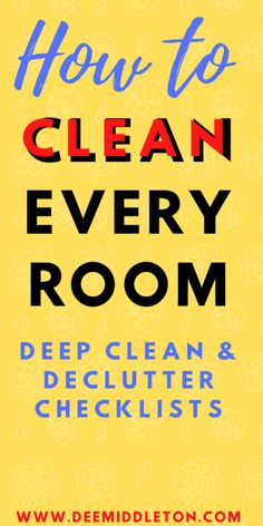 Deep Cleaning Checklist, House Cleaning Tips, Diy Cleaning Products, Cleaning Solutions, Spring Cleaning, Cleaning Hacks, Housekeeping Schedule, Decluttering Ideas Feeling Overwhelmed, Declutter Your Home