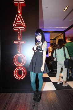Blogger Cherry Gun manned the temporary tattoo station at FNO Beijing.