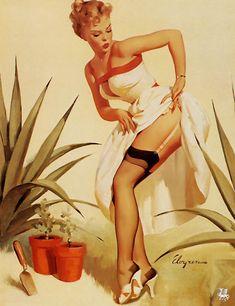 Gil Elvgren - Plenty Sharp  (Get the Point)   1959