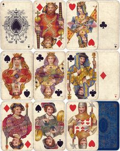 Faulkner & Co. Ltd were prolific card game manufacturers over a period of around 50 years, c.1870-1920. The Shakespeare Playing Cards pack was published in c.1906. The original paintings for the courts are by John H. Bacon.