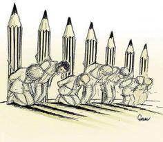 Le dessinateur de Ouest-France, Chaunu, a eu du mal à réaliser son dessin du jour dans le quotidien. Et au lendemain de l'attentat terroriste qui a frappé le siège de Charlie Hebdo et tué 12 personnes, sa peine est immense. Mais pour Chaunu, ces assassins ont perdu, puisque les victimes sont devenues un symbole de la liberté, et que leur mort marque l'Histoire à jamais.