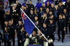 Blair Tuke and Peter Burling take a selfie as they lead the New Zealand team in…