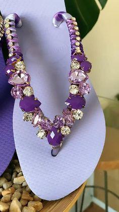 Custom made Ribbon Sandals, Bling Sandals, Purple Sandals, Pearl Sandals, Boho Sandals, Glitter Sandals, Bling Shoes, Ribbon Flip Flops, Fabric Flowers Handmade