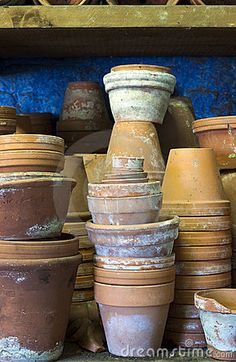 Stacks of Pots by Karen Appleyard, via Dreamstime