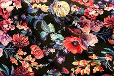 NB17/18 3126-017 Tricot bloemen zwart/multi