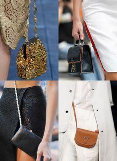 A miniature designer bag