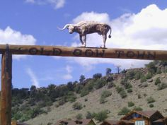"""Entering """"old cow town"""""""""""
