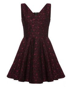 Another great find on #zulily! Black Jacquard A-Line Dress by Iska London #zulilyfinds