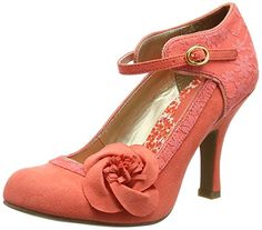 Ruby Shoo Womens Anna Coral Lace Mary Jane Pumps UK 5 EU 38 * Click image to review more details. Note:It is Affiliate Link to Amazon.