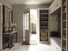 Creative hallway storage solution by Sims Hilditch