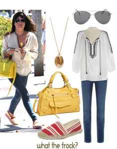 What the Frock? - Affordable Fashion Tips and Trends: Celebrity Look for Less: Selma Blair Style Next Ladies Fashion, Womens Fashion, Celebrity Look, Celeb Style, My Style, Selma Blair, Dark Blue Skinny Jeans, Shades Of White, Beauty Full