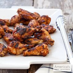 Grilled Chicken Wings  For pleasantly smoky—not sooty—wings, we experimented with heat level and found that it wasn't just the grill setup that mattered—it was also how we set up the wings on the grill. Get the recipe.